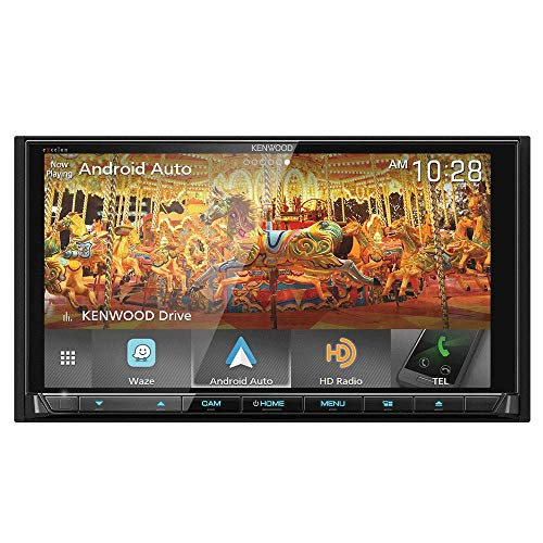 (Kenwood eXcelon DNX995S 6.75 Inch DVD Navigation Receiver with CarPlay, Android Auto and Bluetooth)