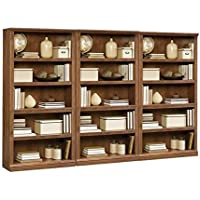 Sauder Storage Five Shelf Wall Bookcase in Oiled Oak Finish