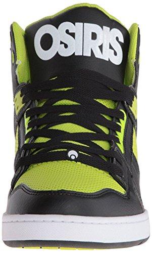 Osiris NYC 83 Noir Lime Blanc Hommes Hi Top Skate Chaussures