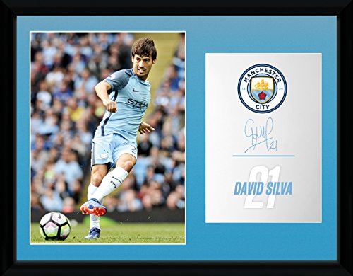 Manchester City Photo - Manchester City F.C. Picture Silva 16 x 12