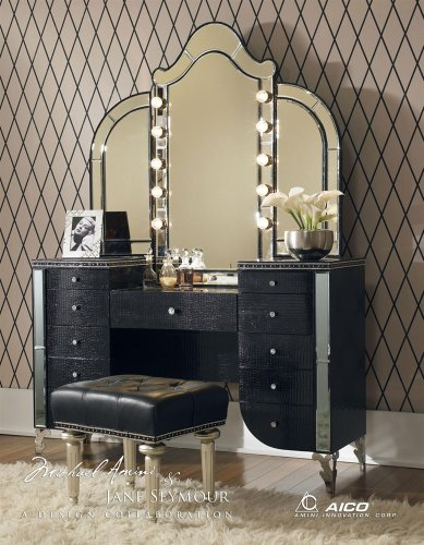 Old Hollywood Style Lighted Vanity