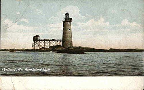 Ram Island Light Portland, Maine Original Vintage Postcard (Portland Light Island)