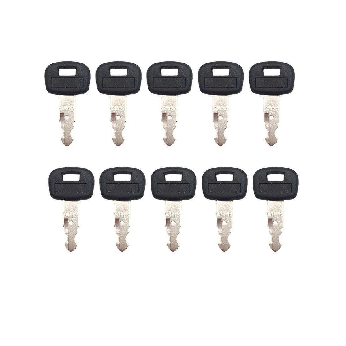 10 pcs Ignition Key RC411-53933 RC461-53930 for Kubota Excavator KX91-3 KX121-3 KX161-3 Skid Steer Loaders SSV65 SSV75