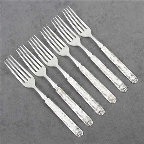 Argyle by Rogers & Bros., Silverplate Luncheon Forks, Set of 6 (Bros Silverplate Fork)
