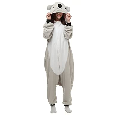 ea8dddf1e641 Unisex Adults Halloween Cosplay Costume Koala Pajamas Onesie Sleepwear   Amazon.co.uk  Clothing