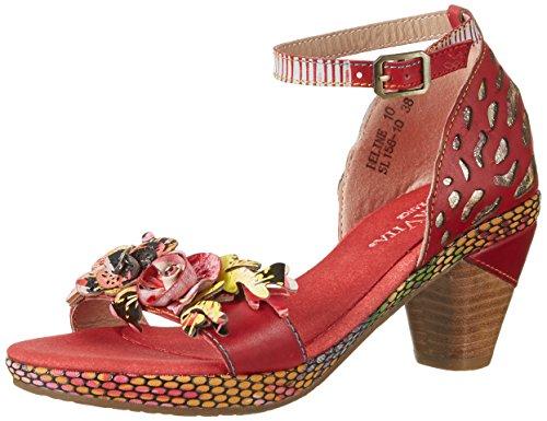 Vita Sandalias Rouge Rot 10 Beline Laura Mujer TOvZq1xw