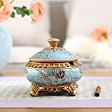 European Classical Ashtray With Lid Ornaments/Home Fashion Soft Decoration Living Room Coffee Table-A