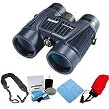 Bushnell 158042C H20 Waterproof 8X42mm Binoculars Black + Focus Foam Float Strap Red + Accessory Kit