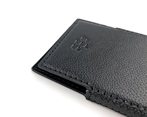 Otis BlackBerry Key2 Handmade Leather Case with Built-in Magnet (Total Black) by Bixon Leather (Image #3)