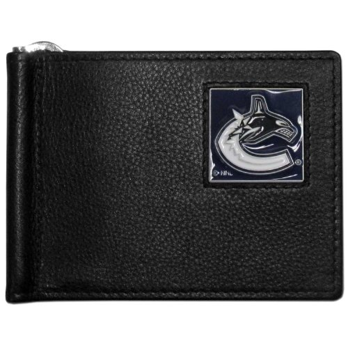NHL Vancouver Canucks Leather Bill Clip Wallet