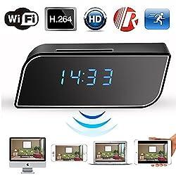 WiFi Camera Clock Hidden Camera Alarm Table Clock Motion Security HD 1080P Wireless WiFi IP Spy Hidden Camera IR DV Cam