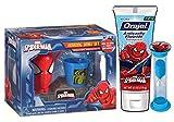 Marvel Spider-Man Boys 3pc Amazing Smile Dental Hygiene Set! Plus Bonus Spider-Man Whistle!