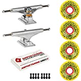 Independent Skateboard Kit 129 Trucks Santa Cruz OG Slime 60mm 78a Yellow ABEC 5