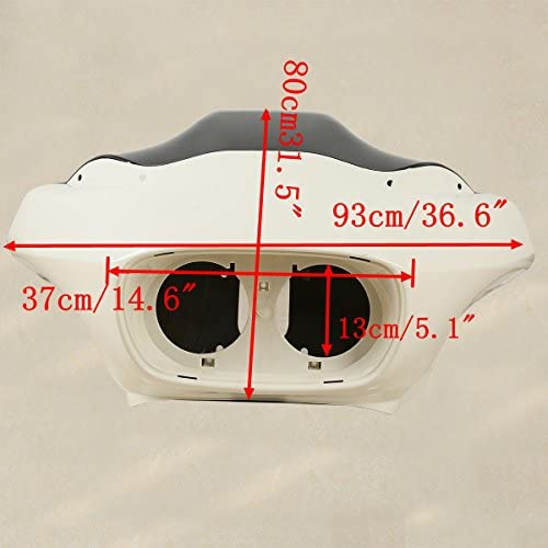 Matt Black+Black TCMT Inner Outer Fairing /& W//5.75 Dual LED Headlight Fit For Harley Road Glide 98-13