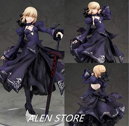 Deep Huble 25cm Fate Zero Fate Stay Night Black Saber Action Figure Collection Toys Japanese Anime Figures