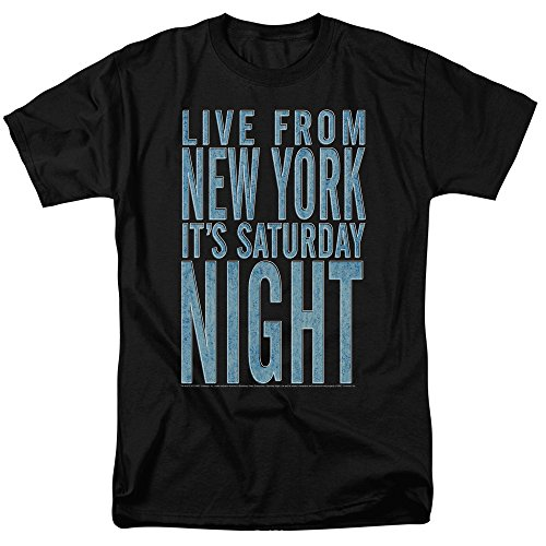 SNL Saturday Day Night Live From New York NYC Men's Adult T-Shirt Black ()