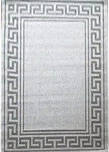 120 x 170 Centimetri Polipropilene Naturale Rapporto Greco Ricamo intessuto tappeti, Grigio