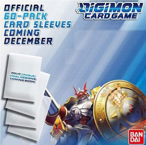 Digimon Card Game Offical Sleeves - Set of All 4 Pack Art Designs