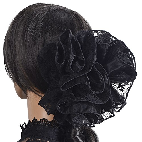 - Large Hair Claw Clamp Jaw Clip Accessories Headwear F807 (F804-Black)