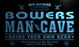 qd1473-b BOWERS Man Cave Soccer Football Bar Neon Beer Sign