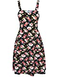 Tom's Ware Womens Stylish Floral Print Adjustable Strap Skater Dress