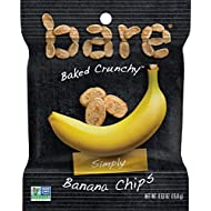 Bare Snacks, Simply Banana Chips, 0.53oz Bags, (16 Pack)