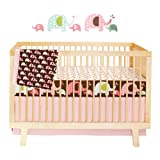 Skip Hop Complete Sheet 4 Piece Crib Bedding Sets, Pink Elephant, Baby & Kids Zone
