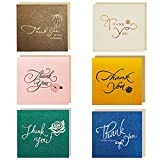 Amaza 30pcs Thank You Cards 6 Style Note Cards with Envelopes (Multicolour)