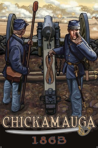 Chickamauga Geogia Civil War Cannon Metal Art Print by Paul A. Lanquist (24