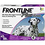 Frontline Plus for Dogs Large Dog (45 to 88 pounds) Flea and Tick Treatment, 3 Doses 3