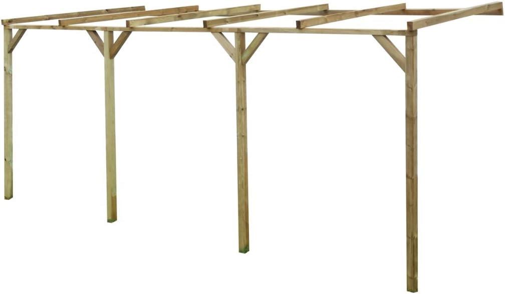 Festnight - Pérgola de madera, cenador para jardín, 2 x 5 x 2, 2 m ...