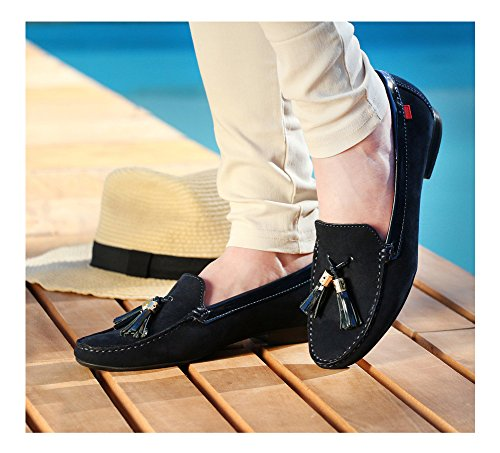 Tassle Genuine Fashion Marc Tassel Leather Street Shoes Women's In Navy Joseph Brazil Made Loafer NY Wall 0aRHfq