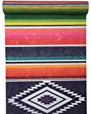 RP RIBBON Table runner with a multi coloured Mexican style print 30cm x 5 Metres