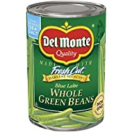 Del Monte Canned Harvest Select Whole Green Beans, 14.5-Ounce