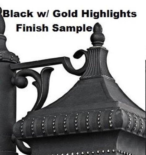 Kichler 4927BKG Accessory Outdoor Brass Chain 36-Inch, Black w/Gold