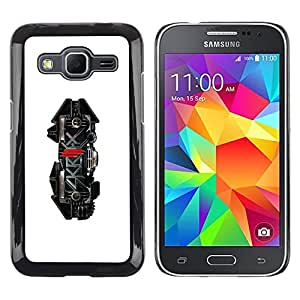 LECELL -- Funda protectora / Cubierta / Piel For Samsung Galaxy Core Prime SM-G360 -- Skrillx Skrille Dubstep Electro Music --