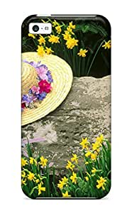 Hot 4983837K74254911 Premium among The Daffodils Case For Iphone 5c- Eco-friendly Packaging