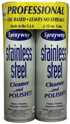 Glass Cleaner: Sprayway Stainless Steel