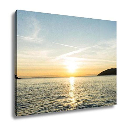 Ashley Canvas Sunrise Sunset At Sea Wallpaper, Wall Art Home Decor, Ready to Hang, Color, 16x20, -