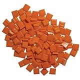 Jennifer's Mosaics 3/8-Inch Venetian Style Glass Mosaic Tile, Orange, 8-Ounce