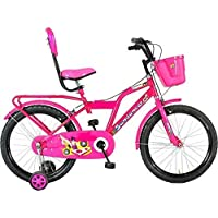 Global Bikes Barbie 20T Fully Adjustable Seat with Back Support Bicycle for Boys and Girls (20T,Pink)