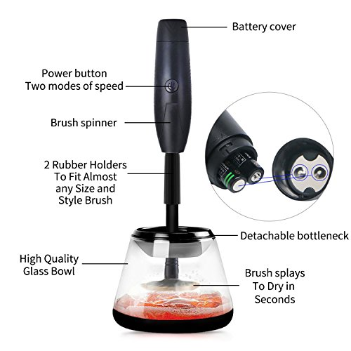 Makeup Brush Cleaner and Dryer Machine Muses,Clean and Dry All Makeup Brushes in Seconds with 2 Adjustable Speeds,Gift For Women, Mom, Girls, Her by Muses (Image #2)