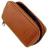 Genuine Leather Double Edge Safety Razor Zippered