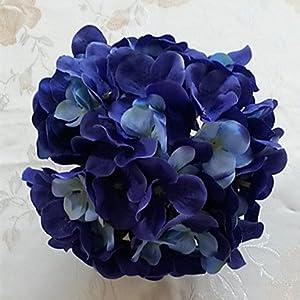 FlowersMagnate 1 Branch Dried Flower Azalea Tabletop Flower Artificial Flowers , purple 23