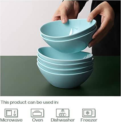 16 Ounces Dessert Bowls Soup Bowls Dowan Ceramic Serving Bowls Set Of 6 Dishwasher And Microwave Safe Teal Cereal Bowls Small Salad Bowls 7 Inches Kitchen Dining Kolenik Serving Bowls