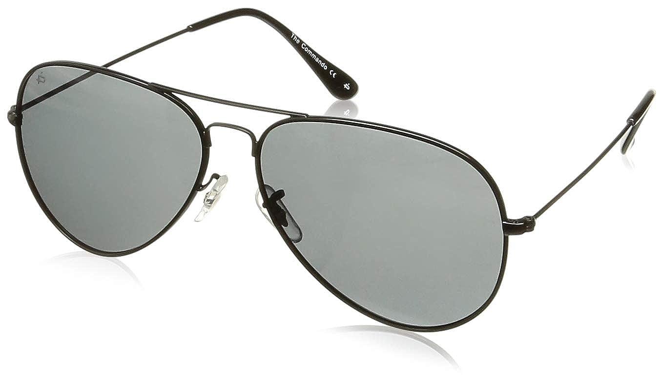 """Amazon.com  PRIVÉ REVAUX """"The Commando"""" Polarized Aviator Sunglasses  -Designer Eyewear  Clothing f8ffb5f898e9"""