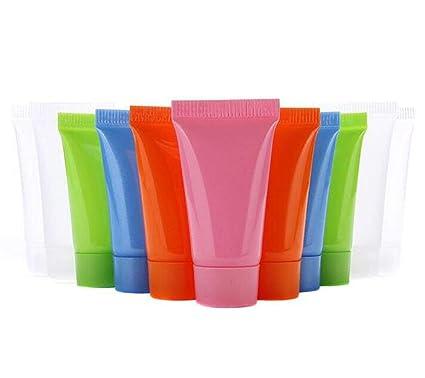 24 unidades de 5 ml de plástico vacío recargable suave tubos de embalaje botella de viaje