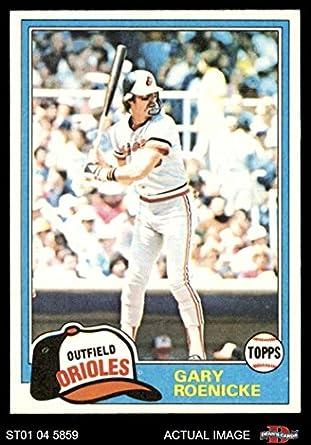 Amazoncom 1981 Topps 37 Gary Roenicke Baltimore Orioles
