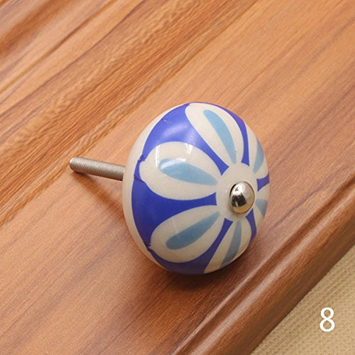 Cabinet Pulls - Furniture Hardware 40mm Handle Ceramic Drawer Cabinet Knobs And Handles Door Cupboard Pull - Tool Handles Flat Gray Twisted Nature Bronze Steel Marble Floral Pulls Flower