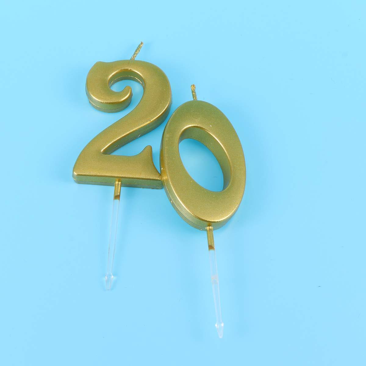 """Bougie d/'anniversaire/"""" 0/"""" Nombre Turquoise Gâteau Bougie Anniversaire Candle Décoration Fête"""